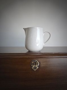 White Ironstone Milk Pitcher