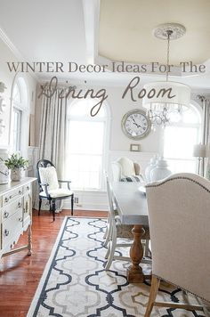WINTER DECOR IDEAS F