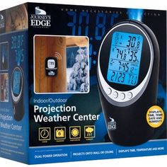 Journey's Edge Indoor/Outdoor Projection Weather Center    Retail Price: $49.99  Yugster Price  $21.97