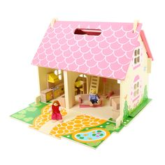 Blossom Cottage is our most decorated dolls house with over 4 awards including the Best Toy from Oppenheim and a Practical Pre-School Award. This pretty wooden dolls house opens out to reveal four fully furnished rooms including a bathroom, lounge, bedroom and kitchen; this dolls house also comes with a pull out garden/patio area. Youngsters will love using their imagination to create the perfect family home. RRP £64.99 Available: http://shop.bigjigstoys.co.uk/p/blossom-cottage
