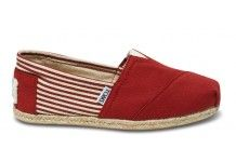 Toms - University Red Rope Sole Women's Classics