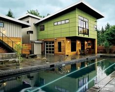 contemporary eco prefab in Kirkland, WA #architecture