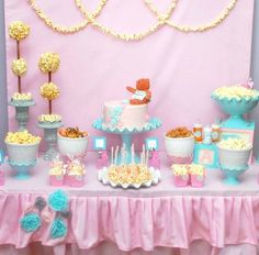 popcorn table for baby shower