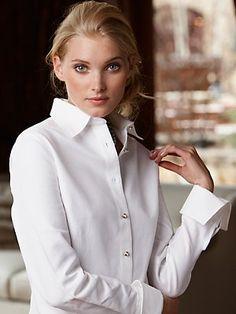 French cuff shirts for women on pinterest cuffs French cuff shirt women