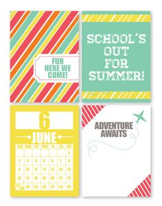 Chic Tags - free printable Summer cards #Scrapbooking