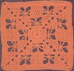 "Butterfly Garden 12"" Square Pattern"