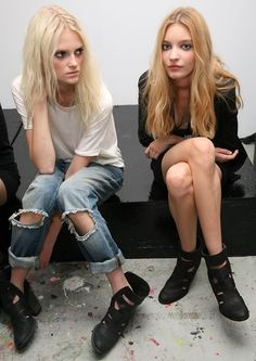 models #ripped #jeans #destroyed #denim #casual