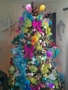 Candy themed Christmas tree.