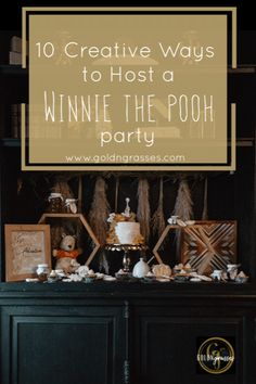 10 Creative Ways to Host a Winnie the Pooh Party Learn my simple party styling tips to recreate this stunning kids party! Including my DIY Pineapple Flowers + FREE printables + healthy toddler friendly treats! Click now for this adorable Winnie the Pooh party perfect for birthday parties and baby showers!  #winniethepooh #pooh #winniethepoohparty #100acrewoods #printable #partyprintable #babyshower #kidsbirthday #partyidea #pineappleflowers