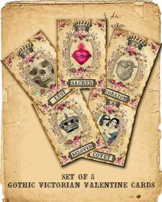Gothic Victorian Valentine Cards !