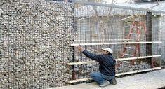 gabion stone fencing ideas