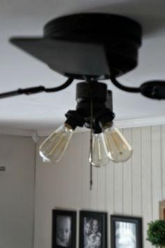 Adding Edison Bulbs to a ceiling fan.