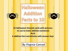 Halloween Addition Facts to 10