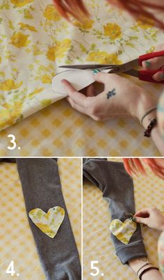 How to add elbow patches to a sweater/cardigan. Great tutorial!