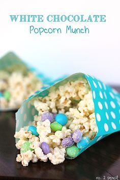 White Chocolate Popcorn Munch aka Mermaid Munch #sponsored