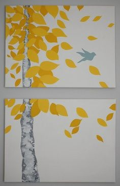canvas ideas to paint - Google Search. This would be cute to do a series for each season and switch them!