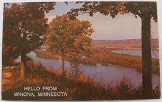 Hello from Winona, Minnesota postcard www.visitwinona.com