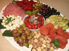 Antipasto Party Platter ... with Grape Tomato & Caper Salad