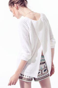 Pullover blanco Trafaluc