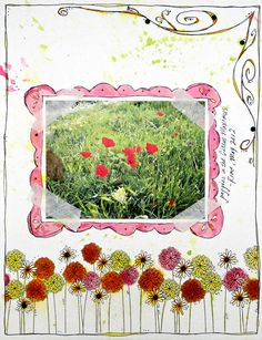 Poppies card by ctprezzia (Clare) bearydocardsinc.blogspot.com