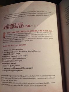 Cartelized red onion relish