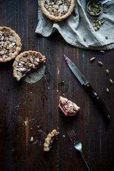 Raspberry Cardamom Almond Tarts