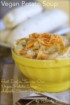 GF/Vegan: Vegan Potato Soup Recipe is Part One of a Two-in-One Recipe