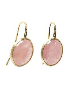 Marco Bicego 18K Yellow Gold Siviglia Pink Sapphire Earrings