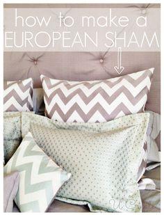 How to make a European Pillow Sham in a few easy steps!! www.u-createcrafts.com