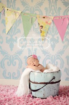 Newborn inspiration ~ love the soft pastel colours ~