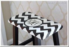 Monogrammed stool