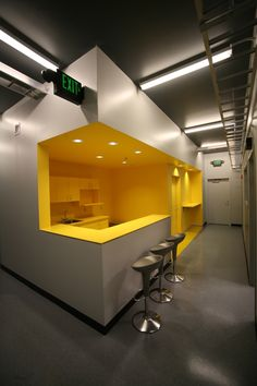 viewing glass into teaching kitchens