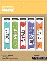 75 Flag Tabs for SMASH Journal Book by K and Co.. $2.19, via Etsy.