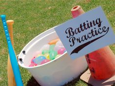 batting practice with water balloons: Fun Activities to Do With Your Kids -