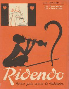 April 1937 Ridendo, Revue gaie pour le médecin. Jacques Touchet.