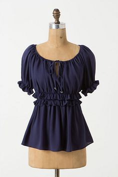 Ruched Peasant Blouse #anthropologie