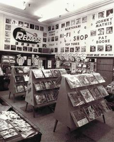 Woolworth's Record Department in Utica, New York, 1958.