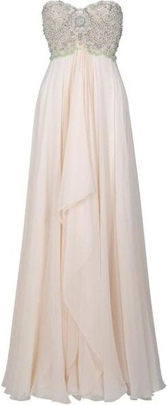 MARCHESA Pearl Beaded Gown. stunning