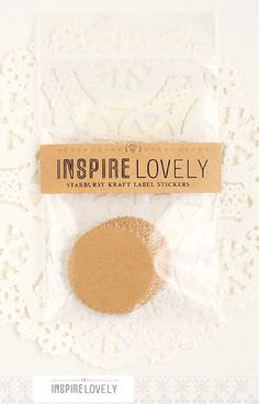 "starburst kraft paper stickers- mini 1"" for sealing invite envelopes"