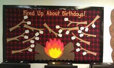 Classroom Camp Theme Ideas   Camp Theme Birthday Bulletin Board