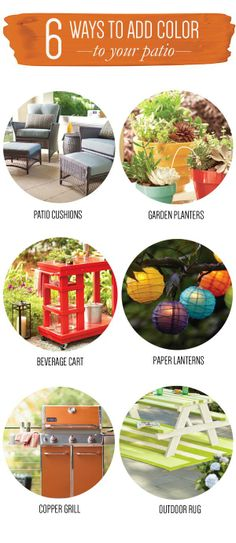 Brighten up your outdoor spaces with these colorful ideas!