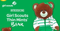 Girl Scout Thin Mint Bear at Build-A-Bear!