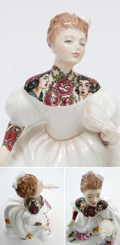 jessica harrison - tattoos on porcelain ladies