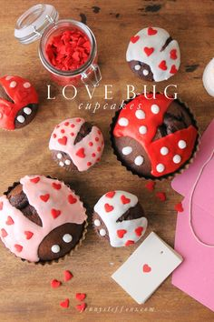 Love Bug Cupcakes |
