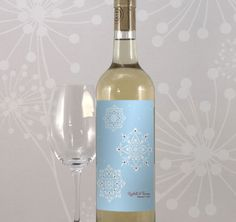 Winter Romance Wedding Wine Label from TheWeddingOutlet.com