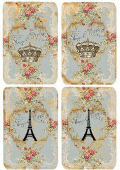 Shabby labels Paris