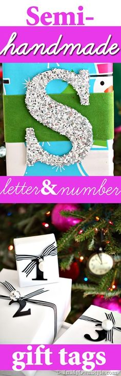Done In a Minute: Letter & Number Gift Tags - In My Own Style