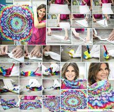 Tie dye scarf- cool pattern!