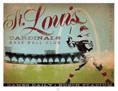 St Louis Cardinals Baseball Original graphic by geministudio