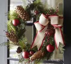Red Bell & Berry Wreath | Pottery Barn
